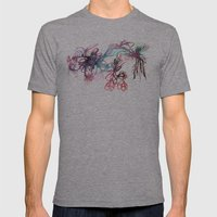 Galaxies Mens Fitted Tee Athletic Grey SMALL