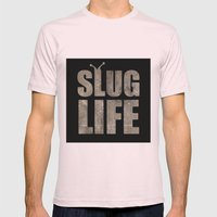 slug Life - Slacker Logo Mens Fitted Tee Light Pink SMALL