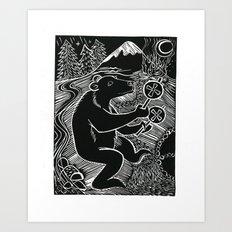 Bear Dancer Art Print