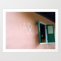 Bar In Remote Laos Art Print