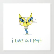 I love cat people Canvas Print