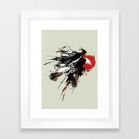 Eruption Eagle Framed Art Print