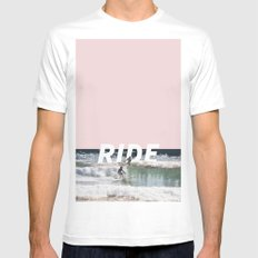 Ride SMALL Mens Fitted Tee White