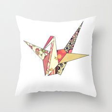 Floral Origami Throw Pillow