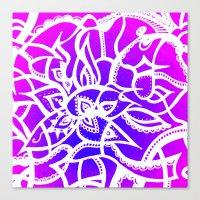 Pink & Purple Love Canvas Print