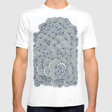 Details Details  SMALL White Mens Fitted Tee