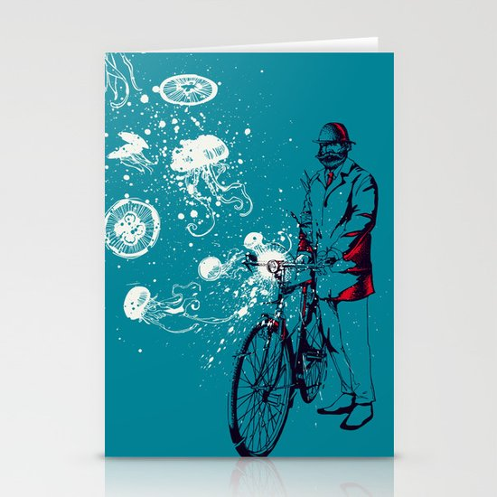 Journey in Blue Stationery Card