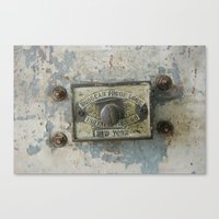 DUMBO Loft Door Lock-Brooklyn, New York Canvas Print