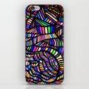 Rainbow Ribbons iPhone & iPod Skin