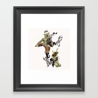 Wrestling the Minotaur Framed Art Print
