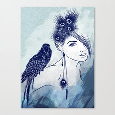 Parrot Girl Canvas Print