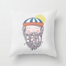 BEARD Throw Pillow
