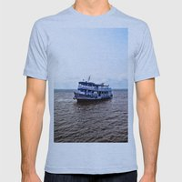 Amazon River Boat Mens Fitted Tee Athletic Blue SMALL
