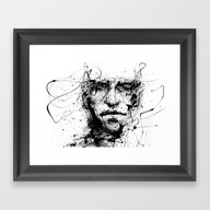 Framed Art Print featuring Lines Hold The Memories by Agnes-cecile