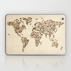 Cats Map of the World Map Laptop & iPad Skin