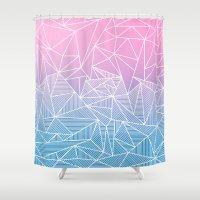 Barika Rays Shower Curtain