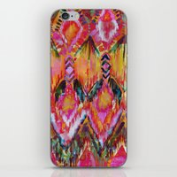 Ikat #32 Orange iPhone & iPod Skin