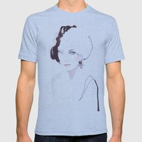 Fashion Illustration In … Mens Fitted Tee Athletic Blue SMALL