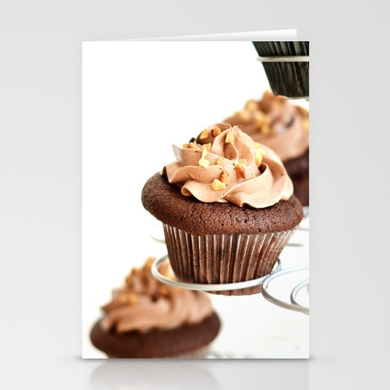 nutella cup cake Stationery Card