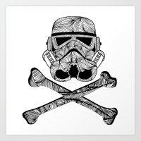 Skulltrooper Art Print