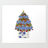 A Cape Cod Christmas Art Print