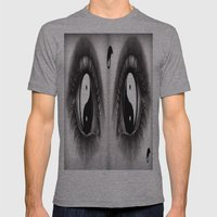7 Eye Collection: Yin Yang In Your Eyes Mens Fitted Tee Athletic Grey SMALL