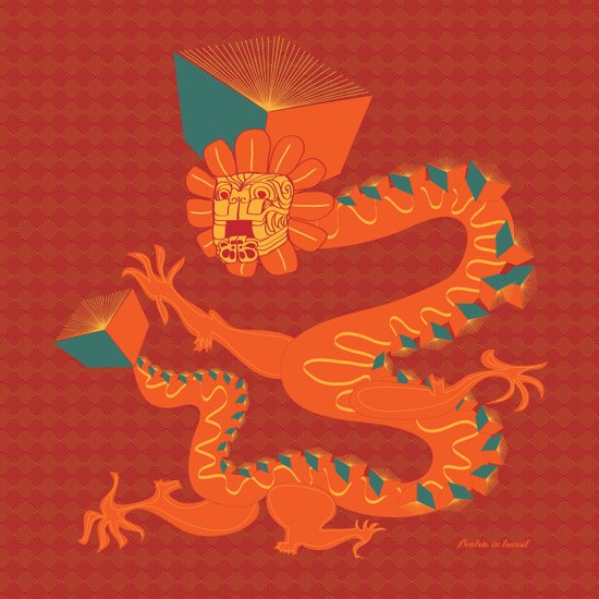 Dragon Quetzalcoatl Art Print