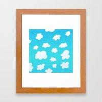 Happy Little Clouds Framed Art Print