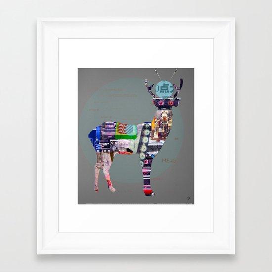 Deer Electric Framed Art Print