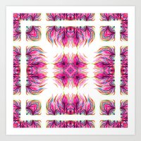 Grazioso Bold Kaleido Pink Art Print