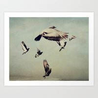 She Spread Her Wings and Began to Fly Art Print