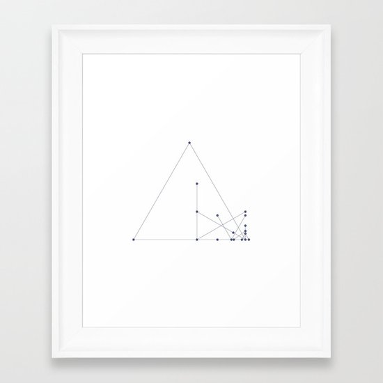 #331 Pyramid construction site – Geometry Daily Framed Art Print