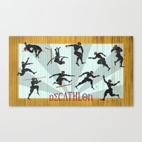 Decathlon Horizontal Pos… Canvas Print