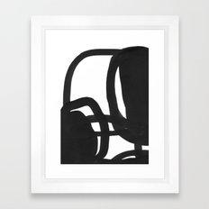Black & White Abstract 2 Framed Art Print