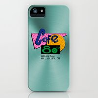iPhone Cases featuring BACK TO THE FUTURE - Cafe 80's by La Cantina