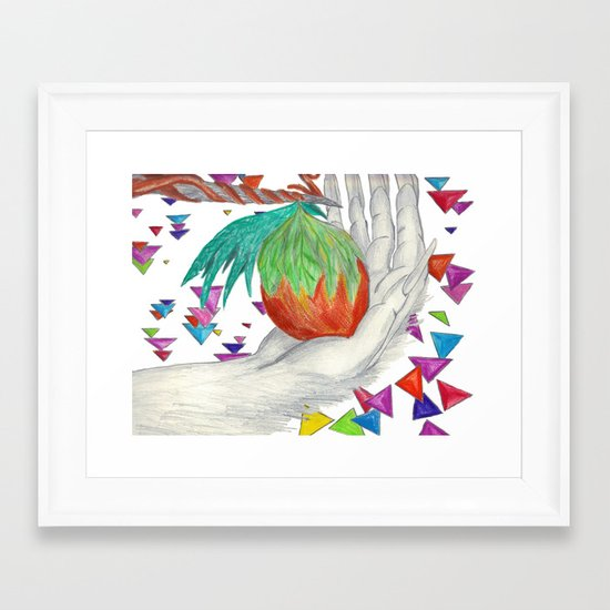 Alien Fruit Framed Art Print