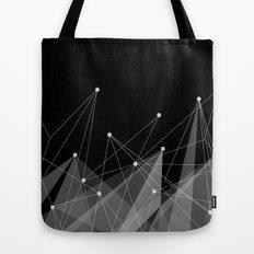 Black fractals Tote Bag