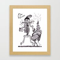 Man & Machine Framed Art Print