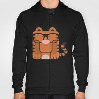 Hipster Tiger Art Print Hoody