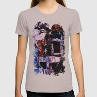 The Seated Woman Womens Fitted Tee Cinder SMALL