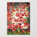 angela's poppies Canvas Print