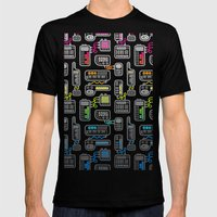 Electronica Mens Fitted Tee Black SMALL
