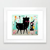 A Lovely Day At The Tiny… Framed Art Print