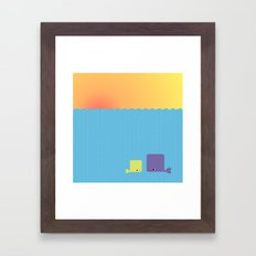 Having a whale of a time Framed Art Print