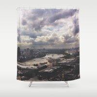London Above Shower Curtain