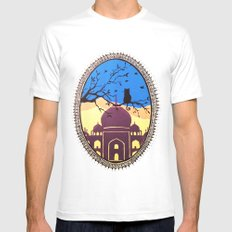Indian cat view SMALL White Mens Fitted Tee
