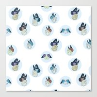 Hampster Butterflies Canvas Print