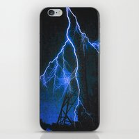 Blue Lightning iPhone & iPod Skin