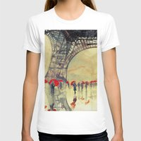 paris T-shirts featuring Winter in Paris by takmaj