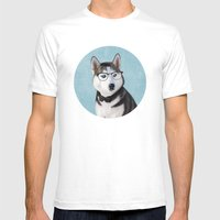 Mr Husky Mens Fitted Tee White SMALL